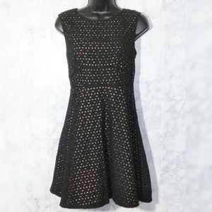 Ann Taylor Loft Black A-Line Dress 6P